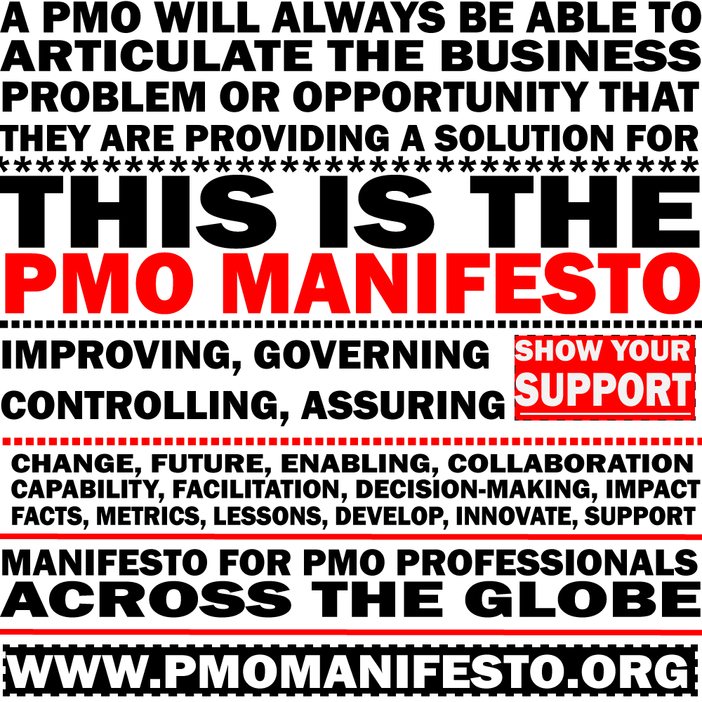 PMO Manifesto Launch